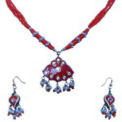 Jaipuri Designer Pendant n Earrings Set 146