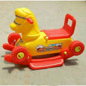 Yellow And Red Plastic Baby Riders Horse
