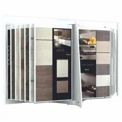 Polished Iron Designer Tile Display Stand, For Showroom, Size: 8x4 Feet