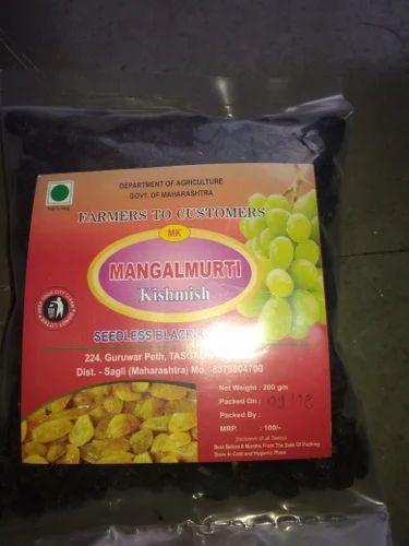 Black Seedless Raisins, Packaging Type: Vacuum Bag