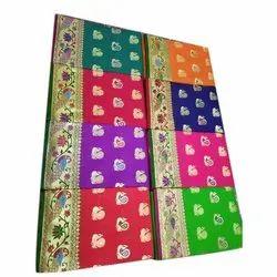 5.5 m (separate blouse piece) Festive Wear Banarasi Silk Saree, With Blouse Piece