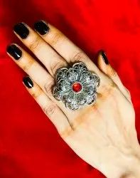 Designer Ladies Finger Oxidized Ring