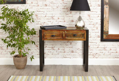 Merveilleux Console Table/ Side Table, Reclaimed Wood Wall Side Table