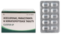 Aceclofenac, Paracetamol, Serratiopeptidase (Closter -SP) Tablet