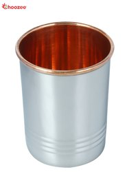 Stainless Steel Copper Glass (Mirror Line) for Home & Restaurant, Capacity: 300 mL