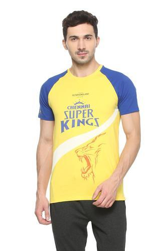 6d38f32c Peter England Casual Wear csk yellow crew neck t shirt ekc318008608, Size:  XL and