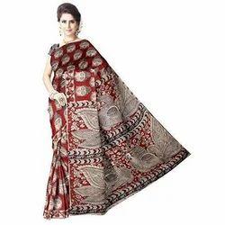 Cotton Silk Kalamkari Saree