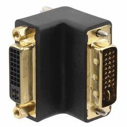 DVI I(F) to DVI I(M) Right Angled Adapter