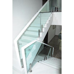 Panel Stainless Steel, Glass High Quality SS Glass Stair Railings