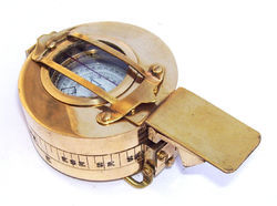 Brass Vintage Military Prismatic Compass