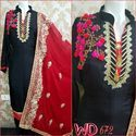 Silk Party Wear Suits W-672