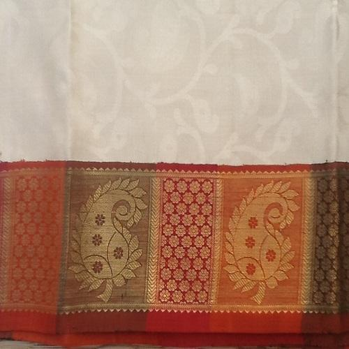 Multicolor Border Designed Traditional Handloom Saree, With Blouse Piece