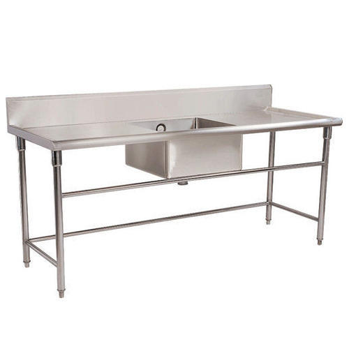 Stainless Steel Work Table Sink SS Table Sink Seasons - Stainless steel work table with sink