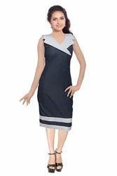 Ladies Sleeveless Stylish Short Dress, Size: S-XXL