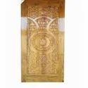 Krishna Overseas Teak Wood Brown Decorative Door
