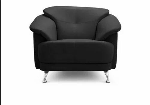 Black Corinth Single Seater Sofa