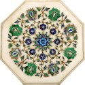 Italian Marble Inlaid Dining Table Top