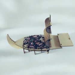 Natural Wood Wooden Ship Chocolate Boxes