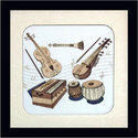 Wood Square Carving Musical Frame