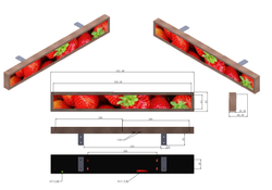 Stretched LCD Displays