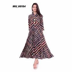 Ladies Long Printed Dress