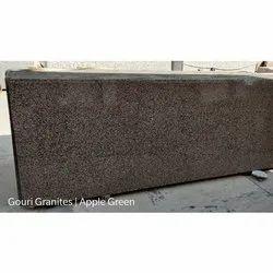 Polished Apple Green Granite Slab, Thickness: 16-20 Mm