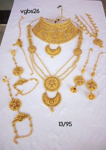 5d8046743a Anniversary And Engagement Brass Indian Bridal Necklace Set Women Fashion Jewelry  Gold Plated CZ