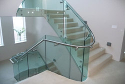 Glass Railing with Stud Model