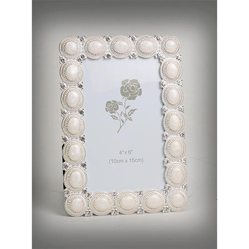 Melange Round Pearls Design Silver Plated Photo Frame at Rs 1600 ...