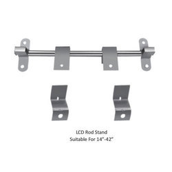Solid Metal Silver LCD Rod Stand, TV Size: 14