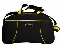 Caris Black & Yellow Duffel Bag