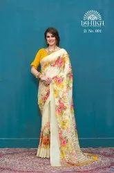 Multicolor Crepe Printed Ethnic Wear Saree Collection
