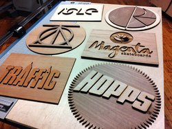 Laser Cutting Name Plates.