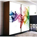 HD Glass Printed Wardrobe
