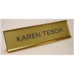 Golden Desk Metal Name Plate