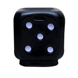 Black Dice Plastic Stool