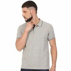 Mens Collar Neck Grey Colour Polo T Shirts