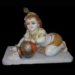 Baal Krishna Marble Statue