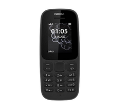 Nokia 105 Black Mobile