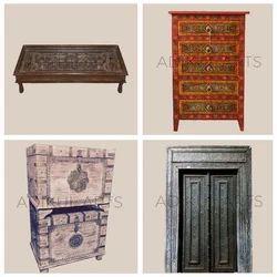 Indian Antique Wooden Furniture Handicraft