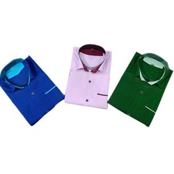 Kids Fancy Cotton Plain Shirt