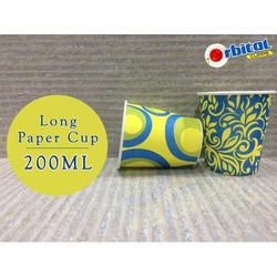 200 Ml Long Printed Paper Cup
