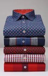 Satin Collar Neck Men Printed Shirt