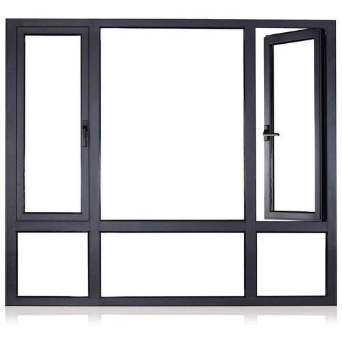 Black Rectangular High Quality Brown Aluminium Window Frames, Rs ...