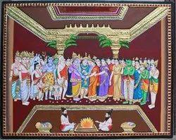 Meenakshi Kalyanam Tanjore Painting