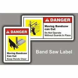 Band Saw Label