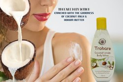 White Trokare Coconut Cream Body Lotion For Shining And Soft Skin, Packaging Size: 100 Ml