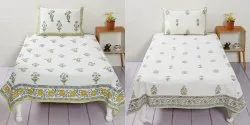 Indian Block Print Single Bed Sheet