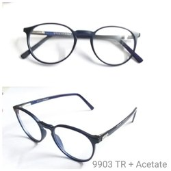 Demo Lens Acetate Eyeglass Frames With Tr90 Unbreakable 9903