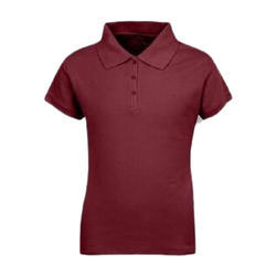 Ladies Cotton Half Sleeve Red Plain T Shirt, Size: S to XL